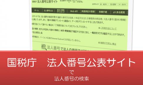 国税庁法人番号公表サイトの画像