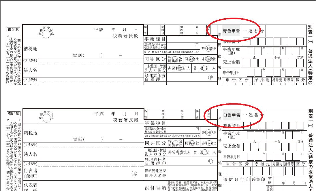 法人税別表(一)の画像