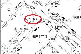 平成27年分_中央区_路線価図の一部