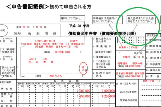 償却資産税申告書とマイナンバー_31