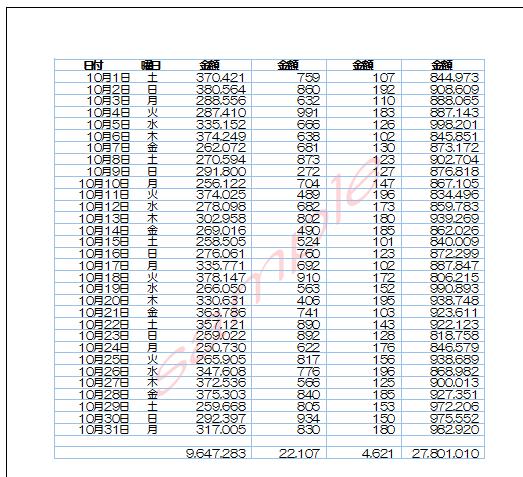 Excel_透かしの画像