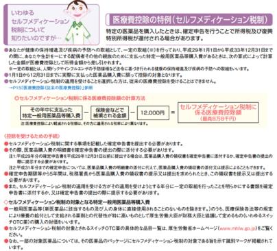 h29_暮らしの税情報_医療費控除の特例(セルフメディケーション税制)の画像