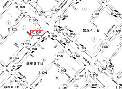 平成29年分_中央区_路線価図の一部