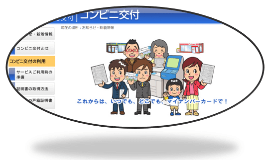 H29_コンビニ交付サイトのトップ画像の一部