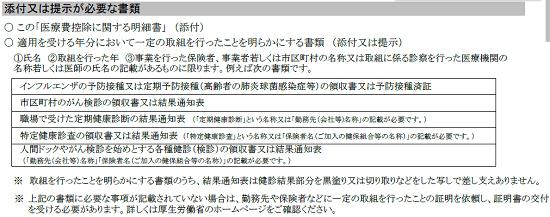 h29_医療費控除に関する明細書イメージ_セルフメディケーション税制添付提示書類の画像