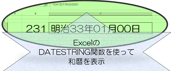 excel_DATESTRING関数の画像