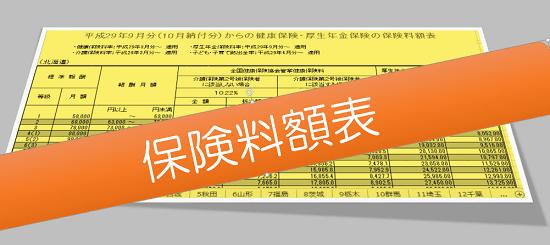 h2909_協会けんぽ保険料額表の画像