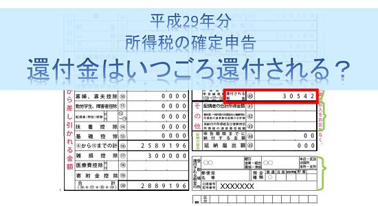 平成29年分-所得税の確定申告の還付時期のアイキャッチ画像
