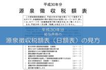 源泉徴収税額表(日額表)の見方(平成30年分)
