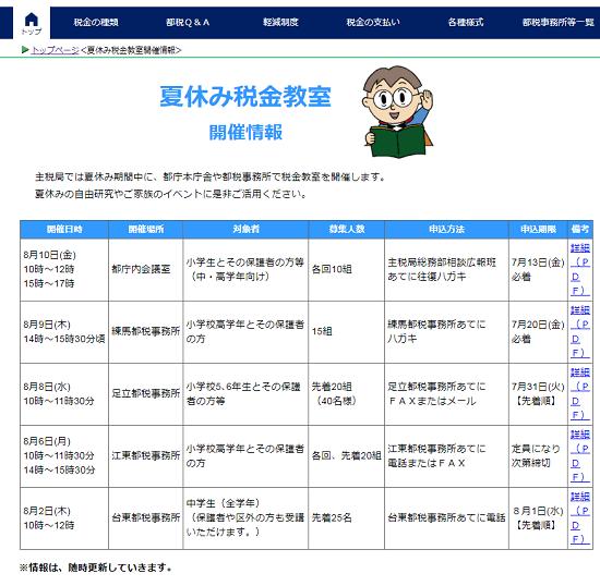 平成30年度-東京都-夏休み税金教室