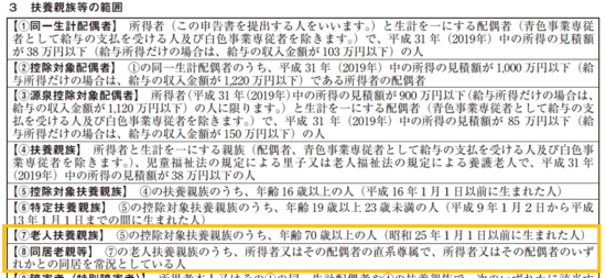 平成31年(2019年)分-給与所得者の扶養控除等(異動)申告書の書き方-31