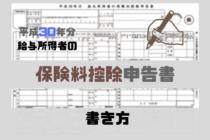 給与所得者の保険料控除申告書の書き方(平成30年分)