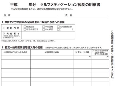平成30年-セルフメディケーション税制の明細書の画像