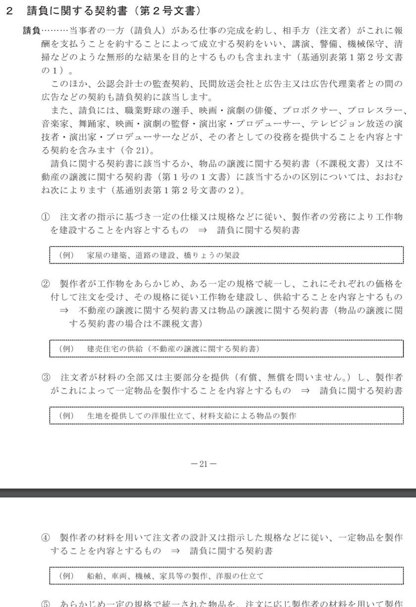 印紙税の手引(令和元年6月)-請負に関する契約書(第2号文書)