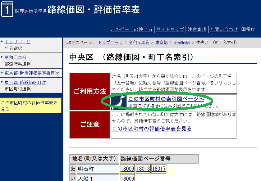 令和元年-路線価図・評価倍率表-東京都中央区