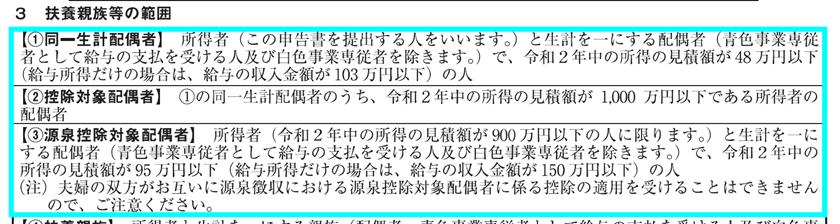令和2年分-扶養控除等申告書の書き方-24
