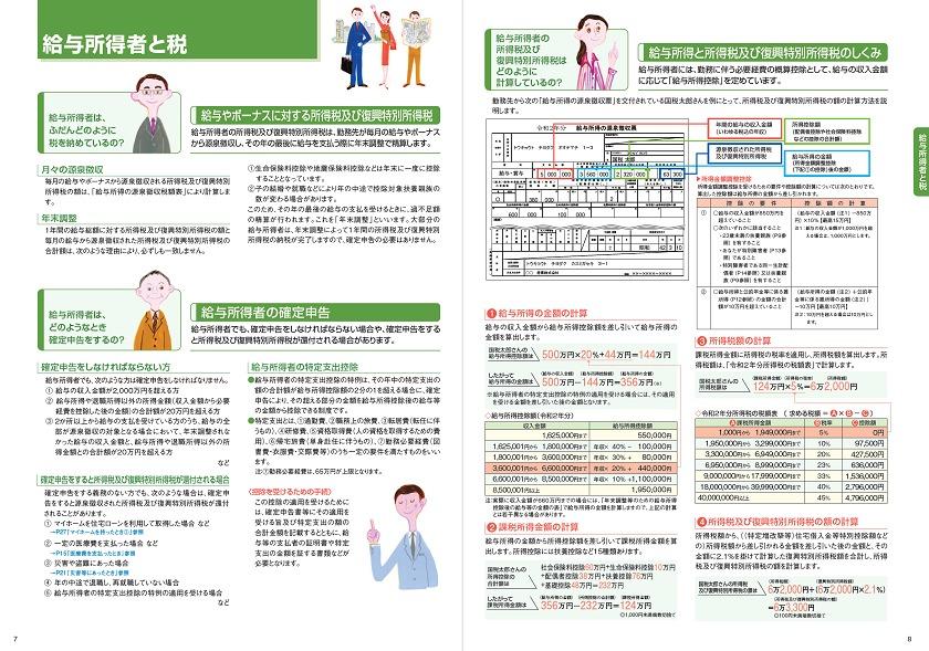 令和2年度版-暮らしの税情報-給与所得者