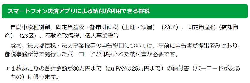 令和3年-東京都-スマホ決済アプリ-利用できる都税